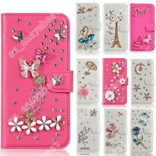 New 3D Cute Flip Magnetic Case Cover For iPhone Diamond Leather Rhinestone Case