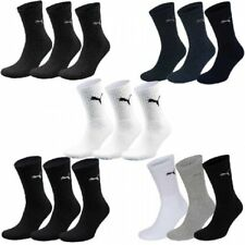 3 Pairs PUMA Sports Socks Tennis Socks Size 35 - 49 White Unisex for Him and Her