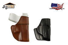 J&J CUSTOM TAURUS TCP 380 PT738 OWB W/ BELT CLIP FORMED PREMIUM LEATHER HOLSTER