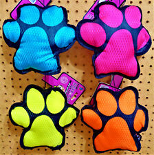 "BOW WOW PET RUFF & TUFF Canvas Squeaky Dog Puppy Toy 8"" Paw Print CHOOSE COLOR"