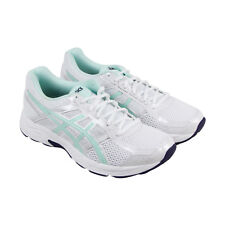 Asics Gel Contend 4 Womens White Mesh Athletic Lace Up Running Shoes