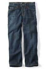 LANDS' END Husky Boys' 10H, 20H Dark Wash Iron Knee Relaxed Denim Jeans NWT