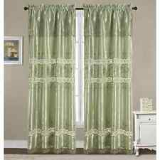 RT Designer's Collection Everly Satin Macrame 84-inch Rod Pocket Curtain Panel