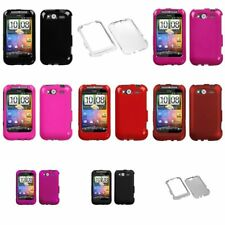 Black/Pink/Red/Clear/Smoke Hard Phone Protector Case Cover For HTC Wildfire S