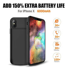 [Apple MFi Certified] 150% Extra Power Extended Battery Case for iPhone X/7/8/6s