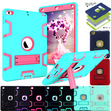 Hybrid Heavy Duty Rubber Shockproof Stand Hard Case Cover FR Apple iPad Mini AIR