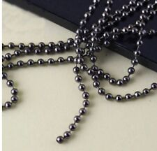 "Gun Black Soldier Dog Tag 2.4mm 27"" Ball Stainless Chain necklace Tg2.4GUN27"