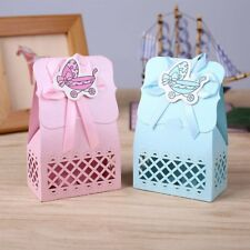 12Pcs Candy Box Baby Infant Cute Carriage Design Bag Hollow Birthday Party