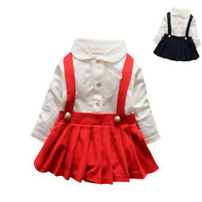 Baby Girl Outfit Lace Dress Layered Fake Two Piece Long-Sleeved Cotton Dress