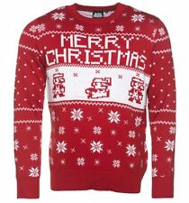 Official Knitted Nintendo Super Mario Brothers Far Isle Christmas Jumper