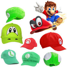 XCOSER Mario Bros Hat Cap Kids Gifts Red Bros Red Green Cosplay Props Christmas