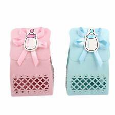 12pcs Baby Infant Birthday Cute Hollow Sculpture Milk Bottle Candy Boxes Storage