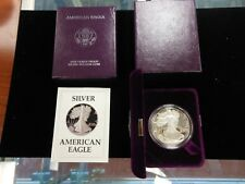 1987 S Silver Eagle Proof With BOX COA Original Government Packaging