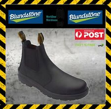 Blundstone 370 Elastic Sided Men's Black Steel Toe Cap Leather Safety Boot