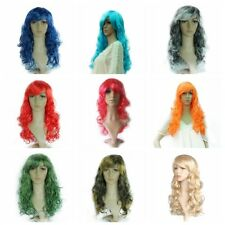 Ladies Long Curly Wigs Wavy Colorful Christmas Party Fancy Dress Cosplay Wigs
