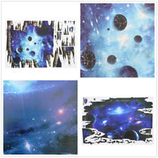 Blue Galaxy Wall Decals Removable 3D Wall Stickers Kids Bedroom Decor Mural Art