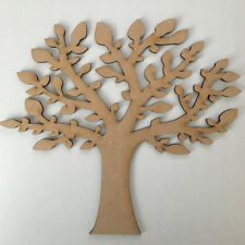 MDF Family Tree Kit & Free Scroll,Hearts Family Word - Wood Craft Shape Blank 06