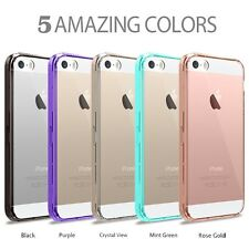 New Hybrid Slim Crystal Clear Back TPU Bumper Case Cover for iphone SE 5S 5G