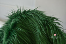 WHOLESALE lot Faux Fur Fabric, Green Faux Fur, Long Pile Fur, 8 meter lot, New