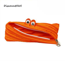 Monster Pencil Case Pen Box School Stationery Cosmetic Makeup Pouch Zipper Bags