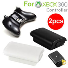 2PCS AA Battery Back Cover Case Shell For Microsoft Xbox 360 Wireless Controller