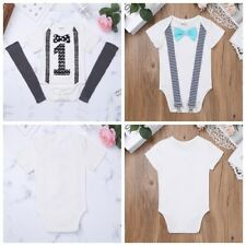 Infant Baby Boy Romper 1st Birthday One Year Party Clothes Outfit Gentlemen Suit