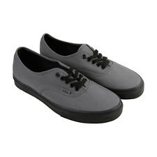Vans Authentic Mens Gray Canvas Lace Up Sneakers Shoes
