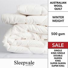 Australian Wool Doona Quilt - Winter 500gsm SINGLE DOUBLE QUEEN KING,SUPER KING