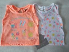 BNWT 2 Pack Baby Girls Tops 0-3 or 3-6 Spring/ Summer p&p Next Day NEW Clothes