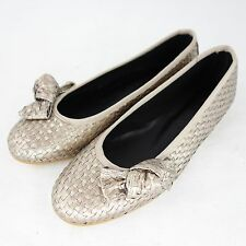 The no. Animal Brand Ballerinas Shoes Waika 36 37 38 Gold Braided NP 179 NEW