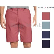 Tommy Hilfiger Mens Flat Front Chino Shorts New Without Tags