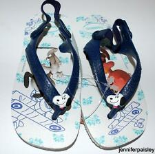 HAVAIANAS Genuine BNWT Baby THONGS FLIP FLOPS Snoopy Blue Logo Surf Back Strap