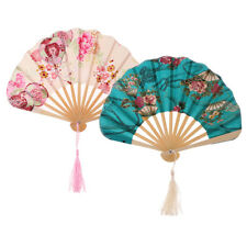 Japanese Classical Dance Party Woman Peony Flower Hand Held Folding Hand Fan