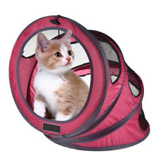 Foldable Pet Exercise Tunnel Cave Cat Kitten Crinkle Nest Cave With Bell Fun Toy