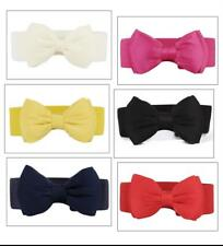 Ladies Bowknot Stretchable Belts Cute High Quality Waistband Stylish Accessories