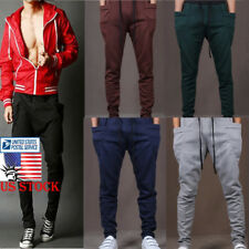 US Men Boys Haren Pants Sports Jogging Hip Hop Dancing Strappy Trousers Leggings