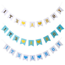 It's A Boy Hanging Bunting Banner Gender Reveal Baby Shower Party Decorations
