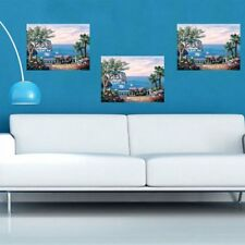 Natural Mediterranean Sea Landscape Canvas Print Oil Painting Wall Picture Decor