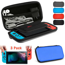 Hard EVA Protective Carrying Case Bag+ 3PCS Screen Protector For Nintendo Switch