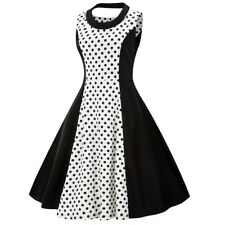 Vintage 50s Womens Rockabilly Retro Polka Dot Swing Pinup Dresses Evening Party