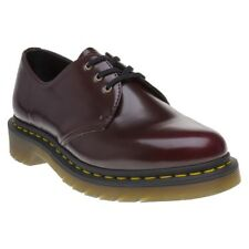 New Womens Dr. Martens Red Maroon Vegan 1461 Shoes Lace Up