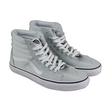 Vans Sk8 Hi Mens White Canvas & Suede High Top Lace Up Sneakers Shoes