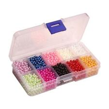 Mixed Colored Faux Pearls No Hole ABS Plastic Loose Beads for DIY Jewelry Making