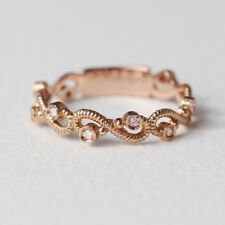 14K Solid Gold Unique Shape Diamond Ring | Beautiful Dainty Diamond Ring