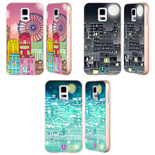 HEAD CASE DESIGNS DOODLE TOWN GOLD BUMPER SLIDER CASE FOR SAMSUNG PHONES