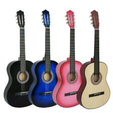 38 inches Acoustic Guitar + Pitch Pipe + Gig Bag Case + Guitar Strap Beginners