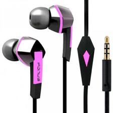 HEADSET HANDS-FREE EARPHONES PINK EARBUDS MIC DUAL STEREO W8X for VERIZON PHONES