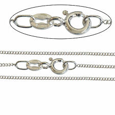 """Superb 925 Silver Plated Fine ITALIAN MADE 1.4mm CURB Chain Necklace 16"""" to 40"""""""