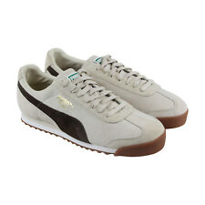 Puma Roma Gents Mens Beige Suede Lace Up Lace Up Sneakers Shoes