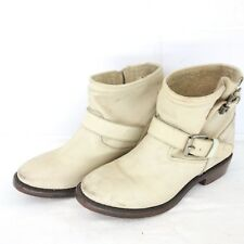 Ash Women's Boots Vegas Ankle Boots Bootie Shoes 38 40 Beige Leather NP 260 NEW
